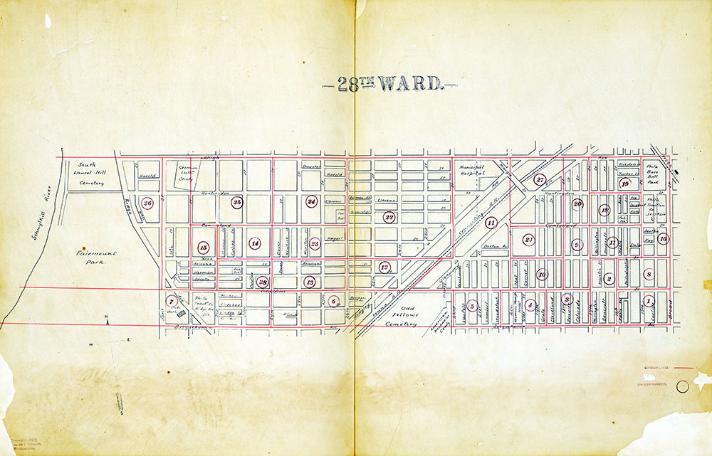 Atlas of the City of Philadelphia by Wards, Ward 28
