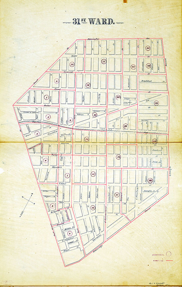 Atlas of the City of Philadelphia by Wards, Ward 31