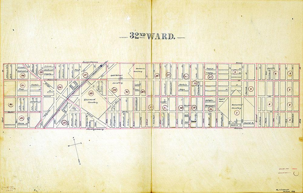 Atlas of the City of Philadelphia by Wards, Ward 32