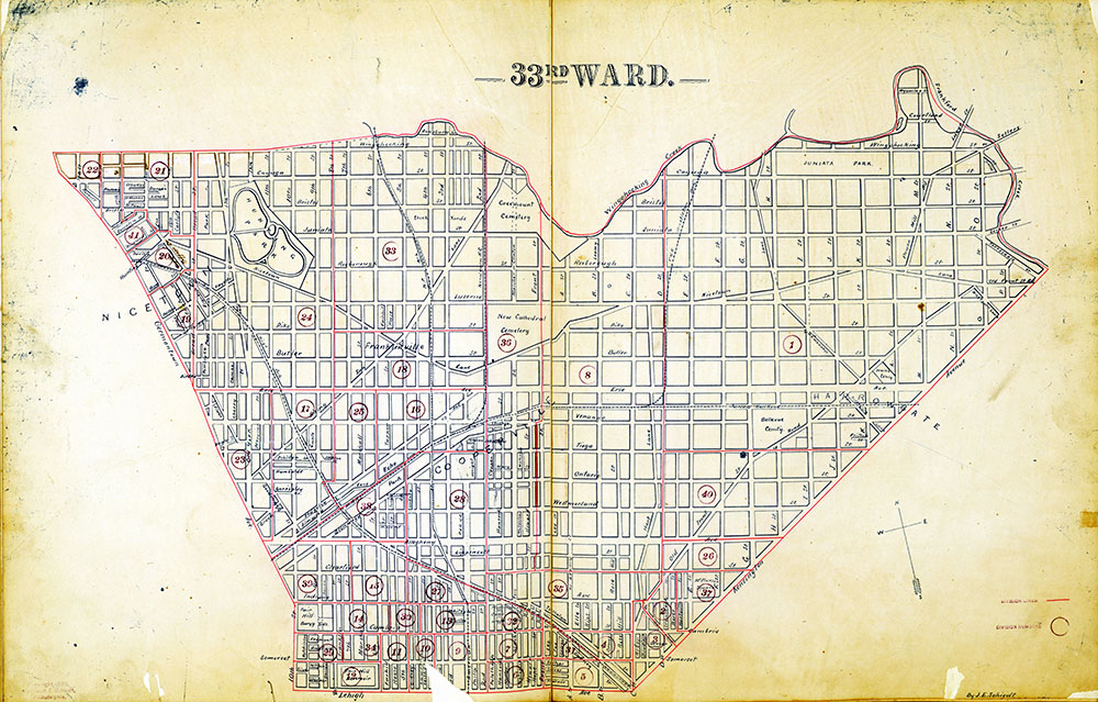 Atlas of the City of Philadelphia by Wards, Ward 33