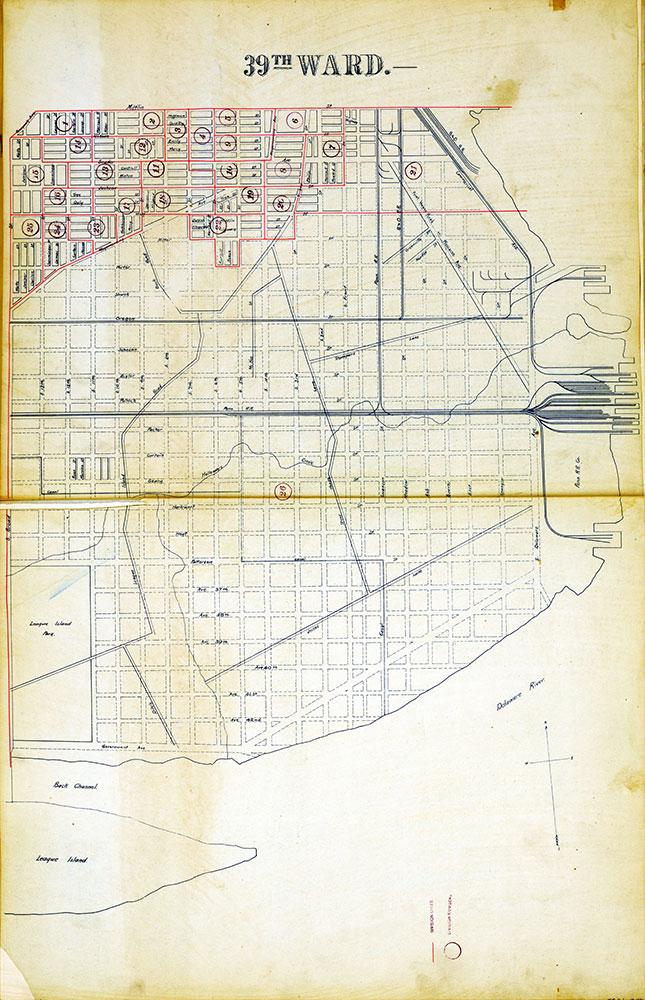 Atlas of the City of Philadelphia by Wards, Ward 39