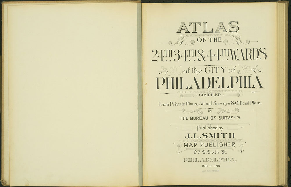 Atlas of the 24th, 34th & 44th Wards of the City of Philadelphia, 1911-1912, Title Page
