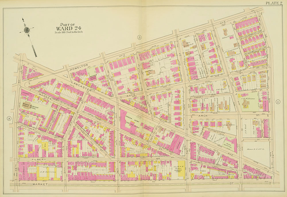 Atlas of the 24th, 34th & 44th Wards of the City of Philadelphia, 1911-1912, Plate 2