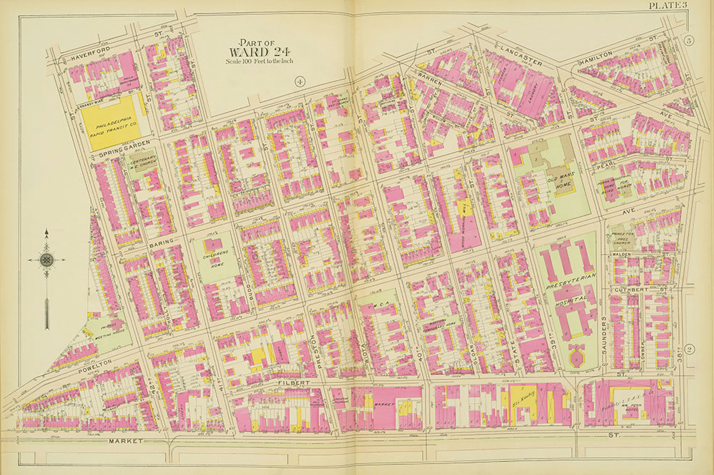Atlas of the 24th, 34th & 44th Wards of the City of Philadelphia, 1911-1912, Plate 3
