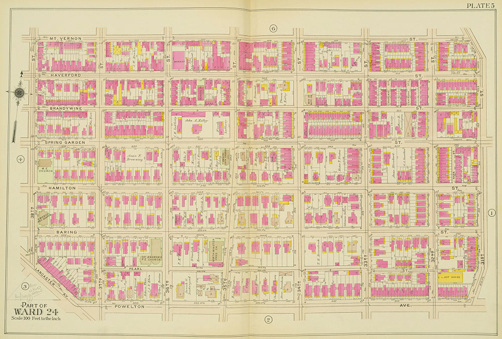 Atlas of the 24th, 34th & 44th Wards of the City of Philadelphia, 1911-1912, Plate 5