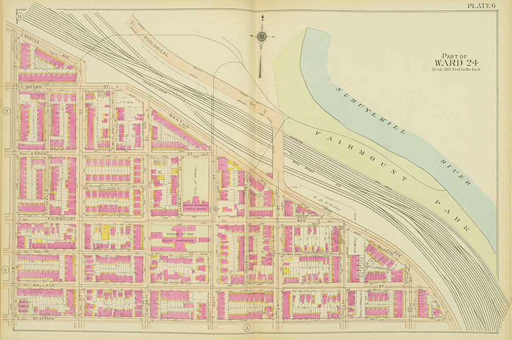 Atlas of the 24th, 34th & 44th Wards of the City of Philadelphia, 1911-1912, Plate 6