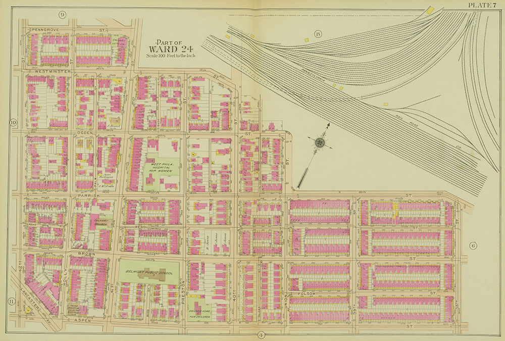 Atlas of the 24th, 34th & 44th Wards of the City of Philadelphia, 1911-1912, Plate 7