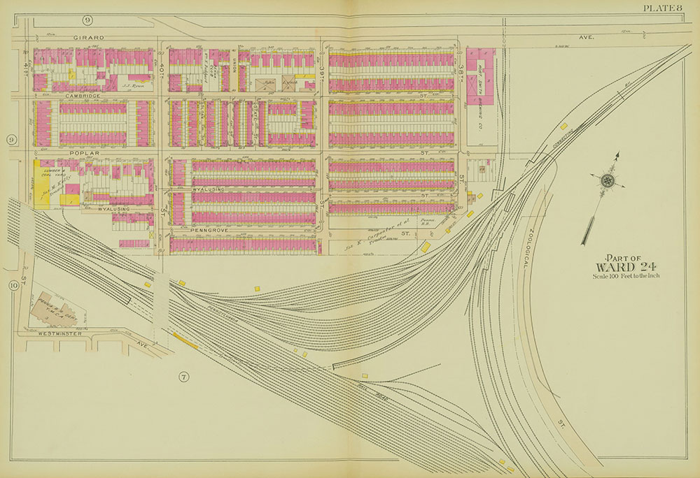 Atlas of the 24th, 34th & 44th Wards of the City of Philadelphia, 1911-1912, Plate 8