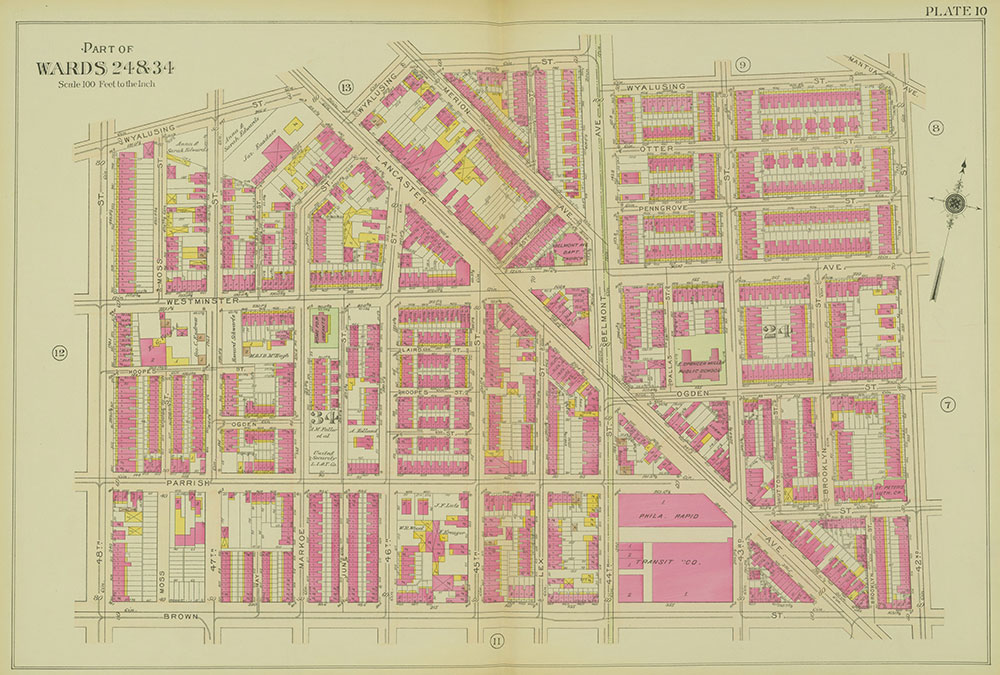 Atlas of the 24th, 34th & 44th Wards of the City of Philadelphia, 1911-1912, Plate 10