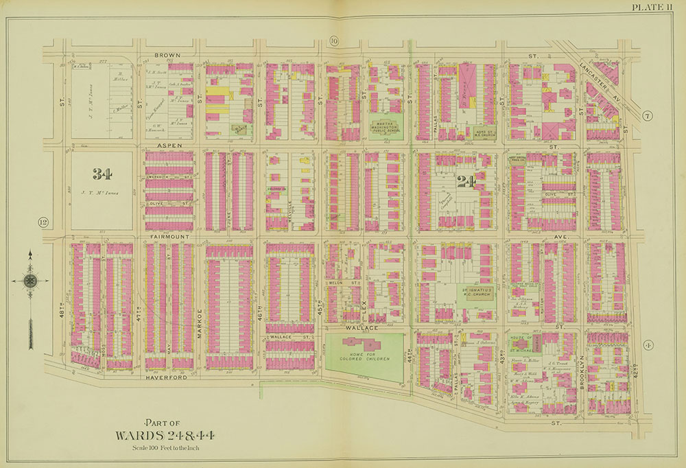 Atlas of the 24th, 34th & 44th Wards of the City of Philadelphia, 1911-1912, Plate 11