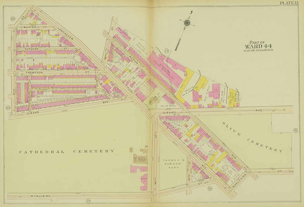 Atlas of the 24th, 34th & 44th Wards of the City of Philadelphia, 1911-1912, Plate 13