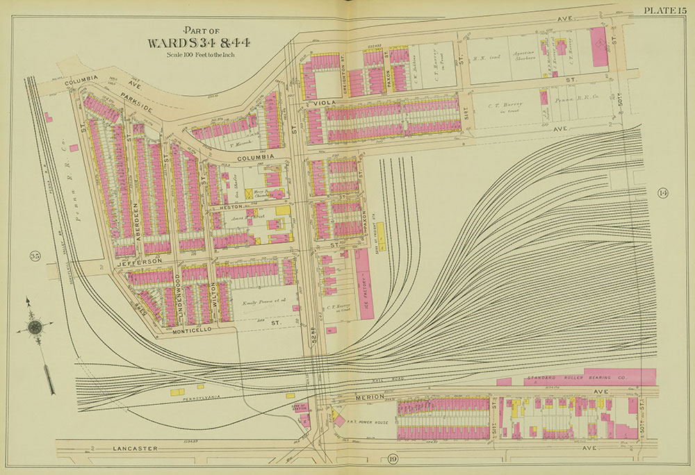 Atlas of the 24th, 34th & 44th Wards of the City of Philadelphia, 1911-1912, Plate 15