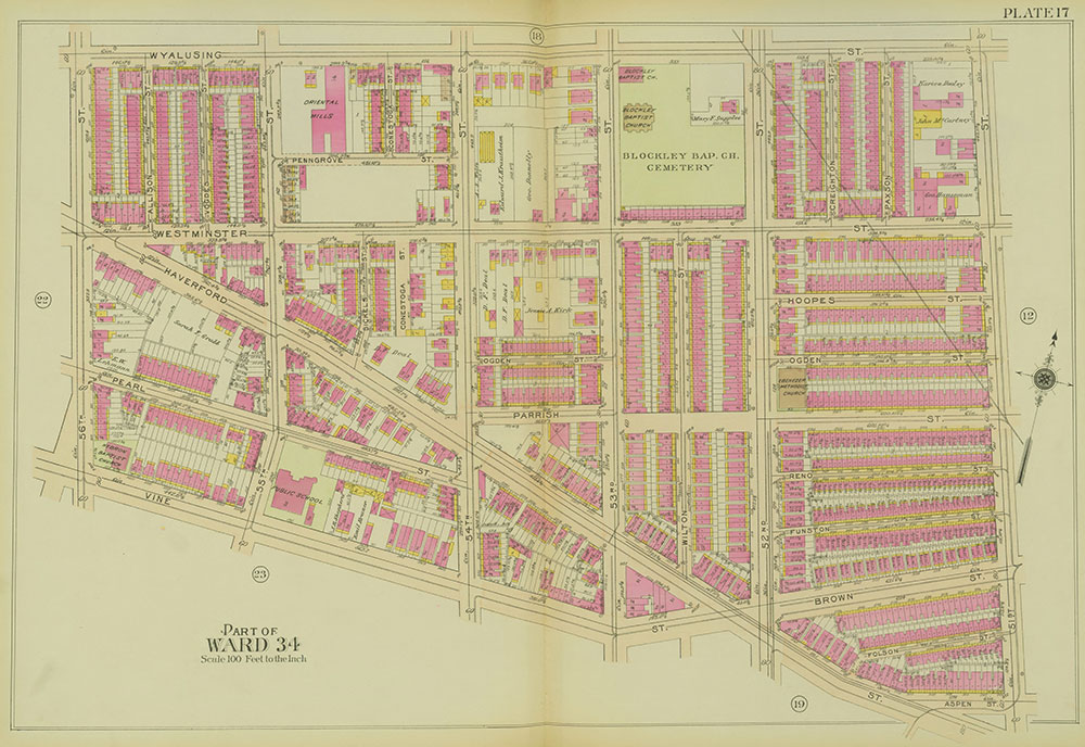 Atlas of the 24th, 34th & 44th Wards of the City of Philadelphia, 1911-1912, Plate 17