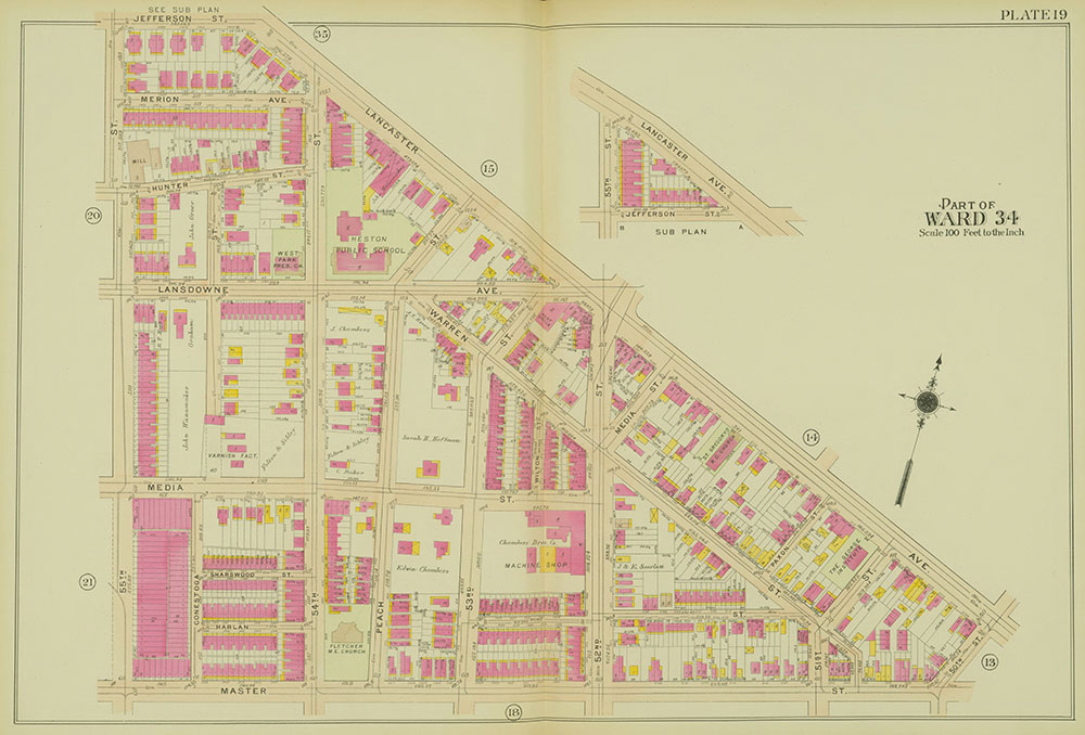 Atlas of the 24th, 34th & 44th Wards of the City of Philadelphia, 1911-1912, Plate 19
