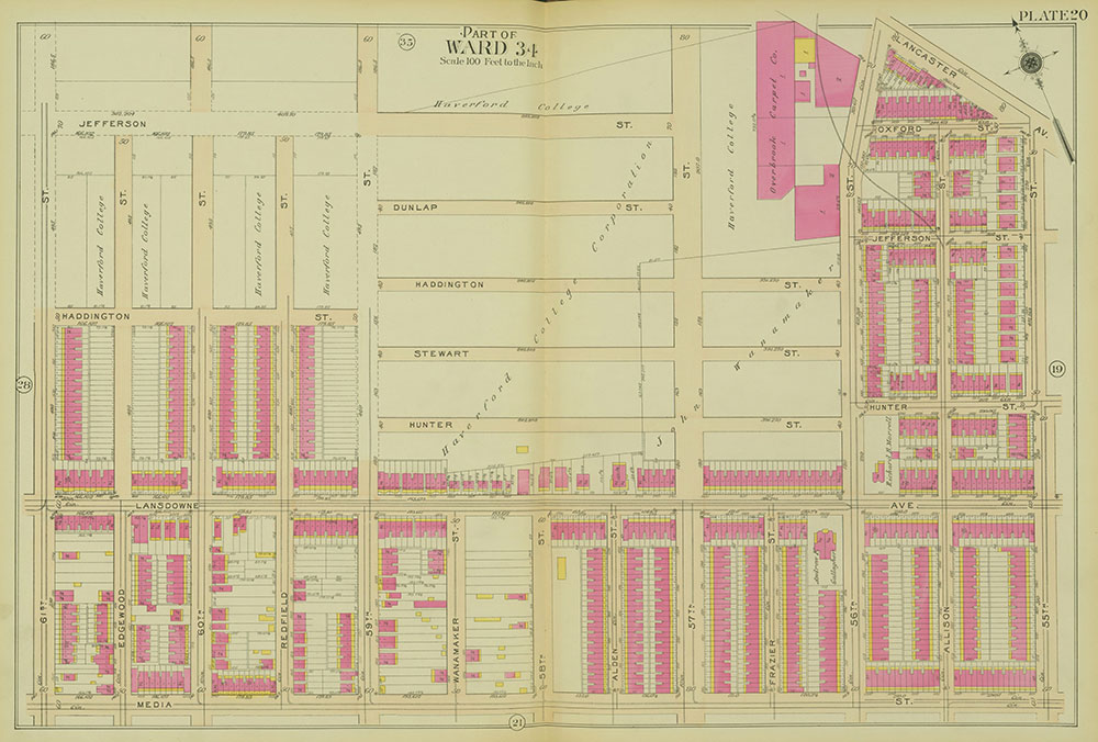 Atlas of the 24th, 34th & 44th Wards of the City of Philadelphia, 1911-1912, Plate 20