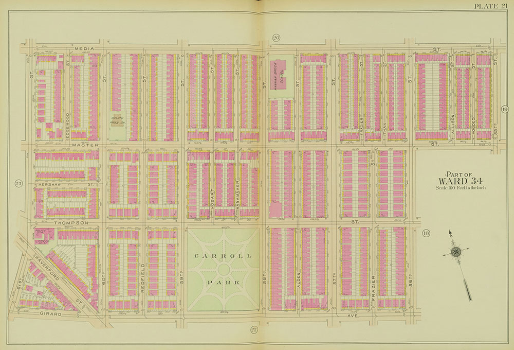 Atlas of the 24th, 34th & 44th Wards of the City of Philadelphia, 1911-1912, Plate 21