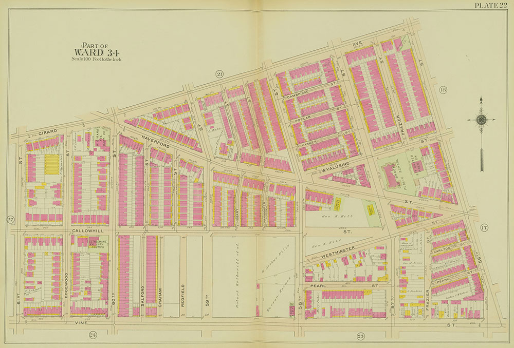 Atlas of the 24th, 34th & 44th Wards of the City of Philadelphia, 1911-1912, Plate 22