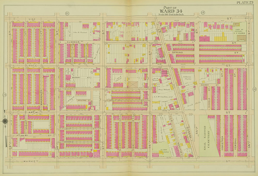 Atlas of the 24th, 34th & 44th Wards of the City of Philadelphia, 1911-1912, Plate 23