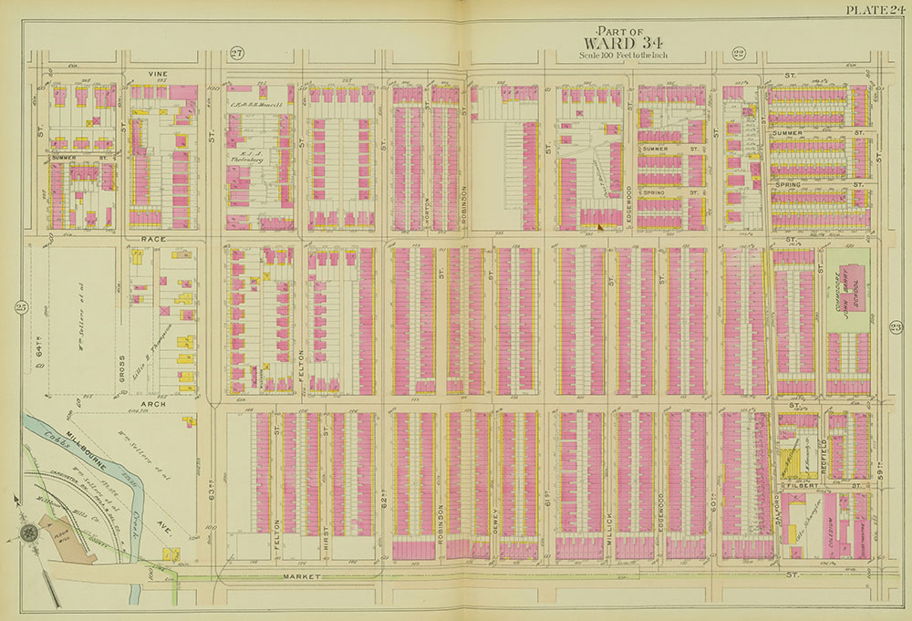 Atlas of the 24th, 34th & 44th Wards of the City of Philadelphia, 1911-1912, Plate 24
