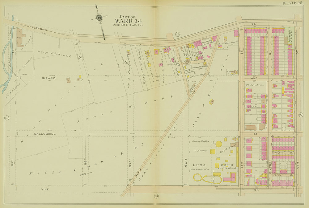Atlas of the 24th, 34th & 44th Wards of the City of Philadelphia, 1911-1912, Plate 26