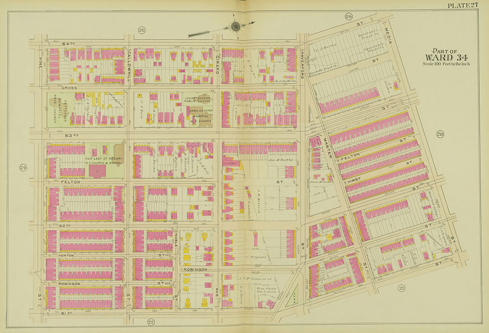 Atlas of the 24th, 34th & 44th Wards of the City of Philadelphia, 1911-1912, Plate 27