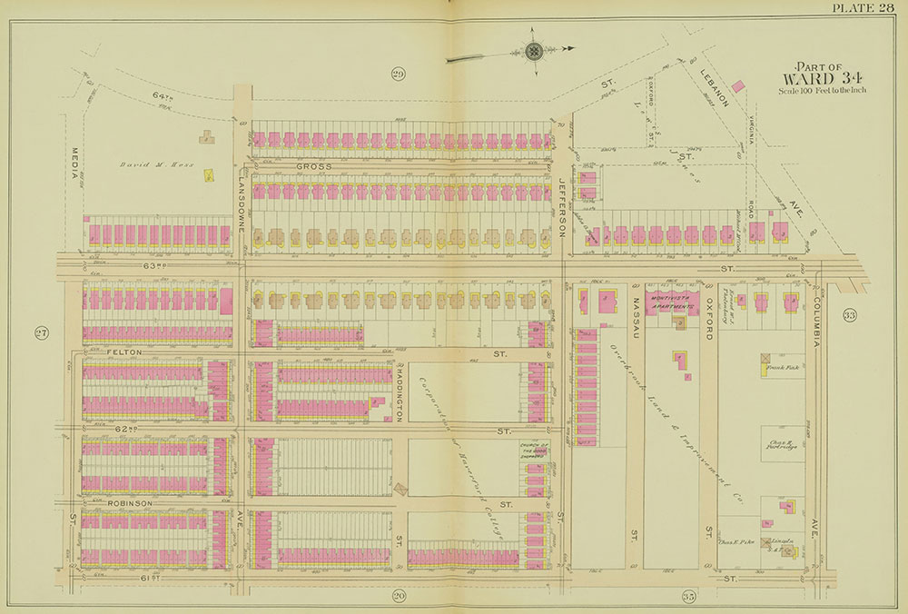 Atlas of the 24th, 34th & 44th Wards of the City of Philadelphia, 1911-1912, Plate 28