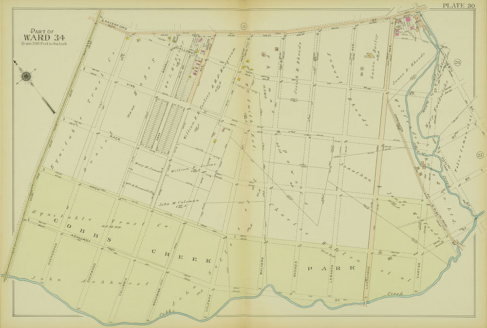Atlas of the 24th, 34th & 44th Wards of the City of Philadelphia, 1911-1912, Plate 30