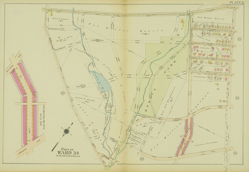 Atlas of the 24th, 34th & 44th Wards of the City of Philadelphia, 1911-1912, Plate 31