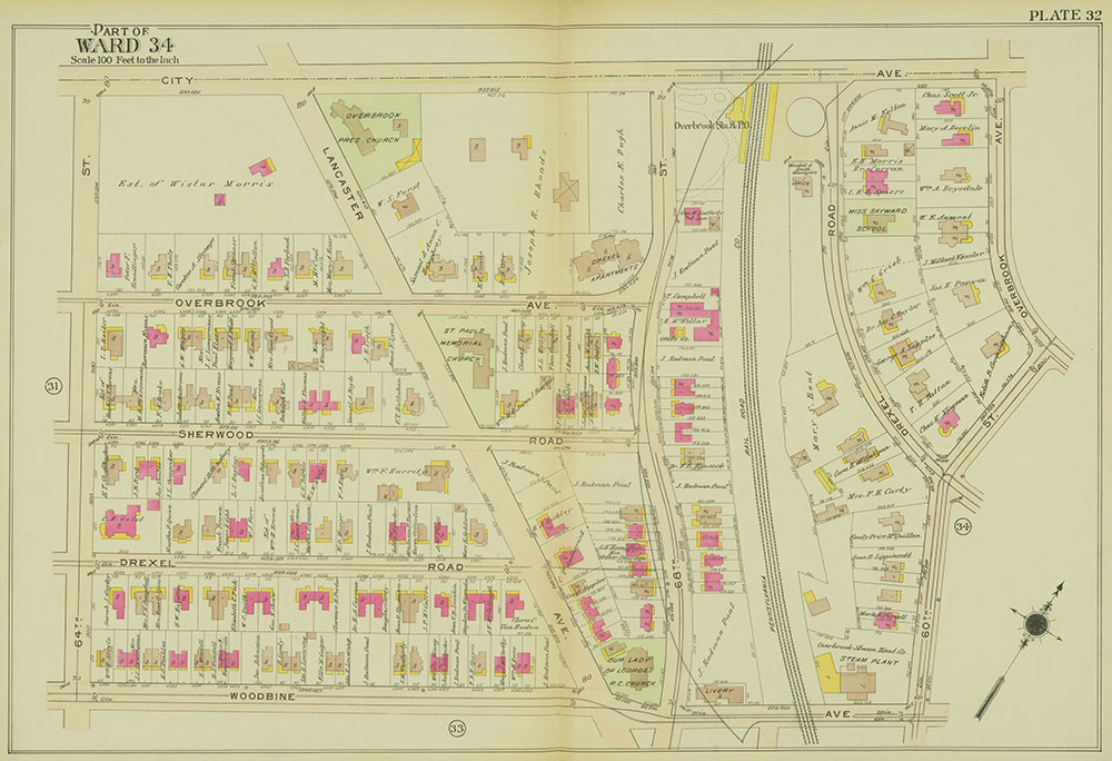 Atlas of the 24th, 34th & 44th Wards of the City of Philadelphia, 1911-1912, Plate 32