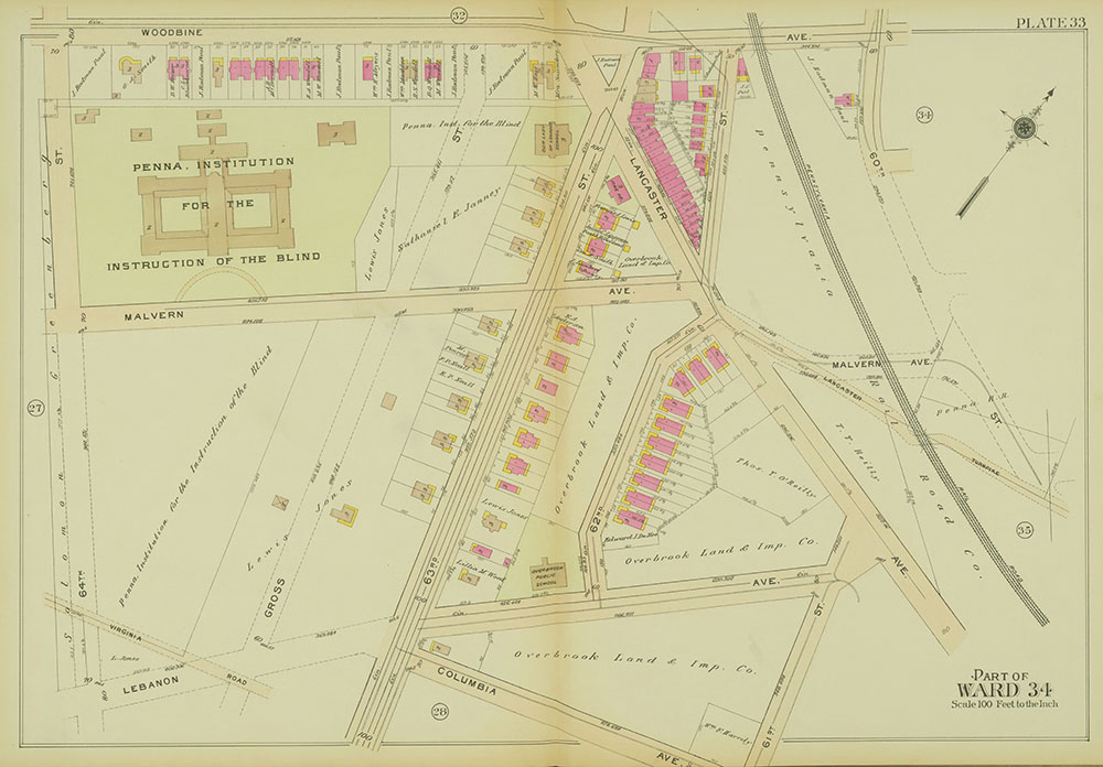 Atlas of the 24th, 34th & 44th Wards of the City of Philadelphia, 1911-1912, Plate 33