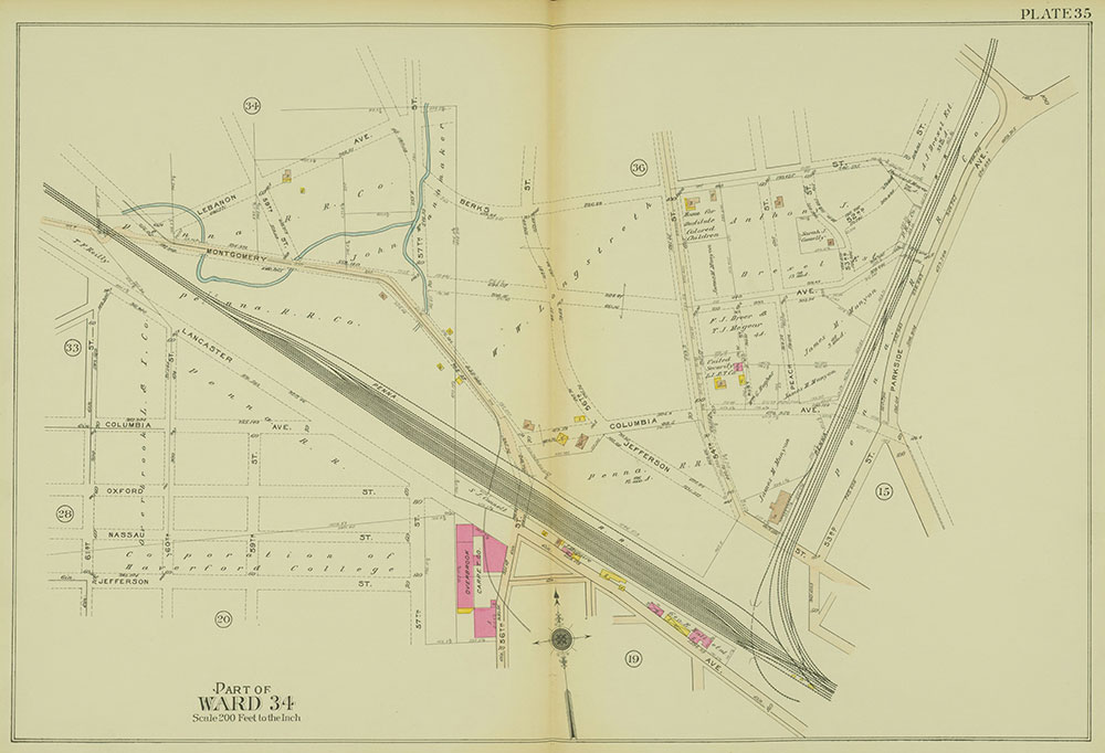 Atlas of the 24th, 34th & 44th Wards of the City of Philadelphia, 1911-1912, Plate 35