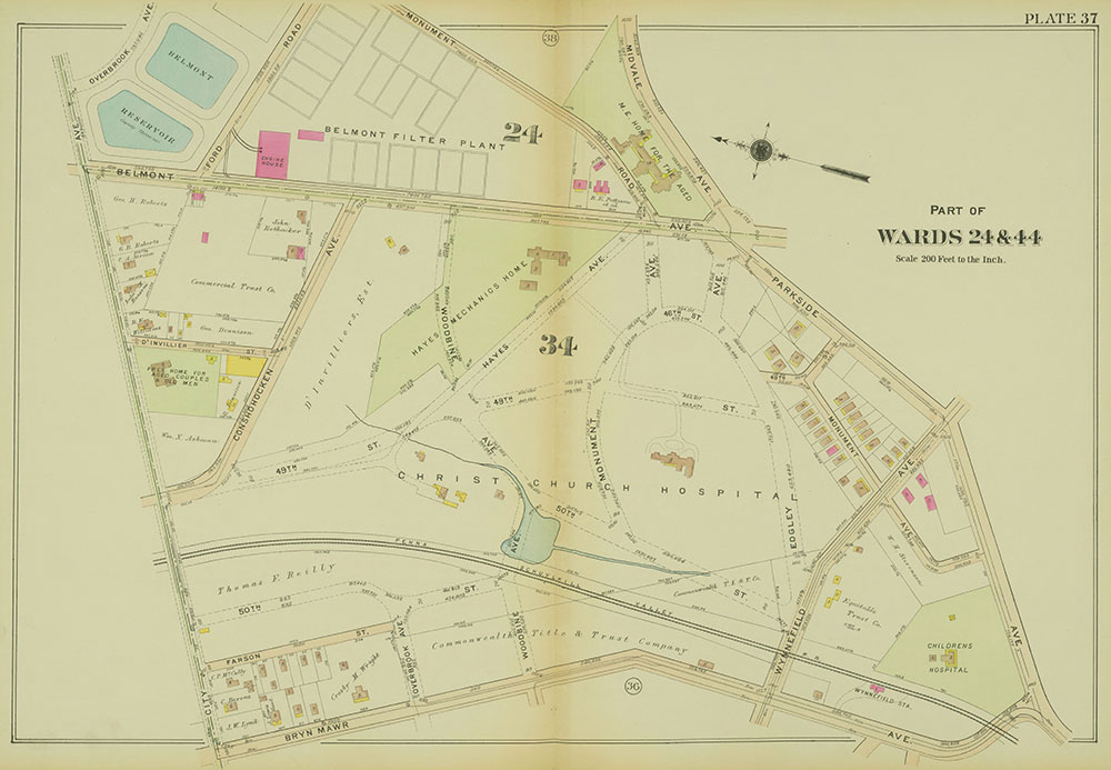 Atlas of the 24th, 34th & 44th Wards of the City of Philadelphia, 1911-1912, Plate 37
