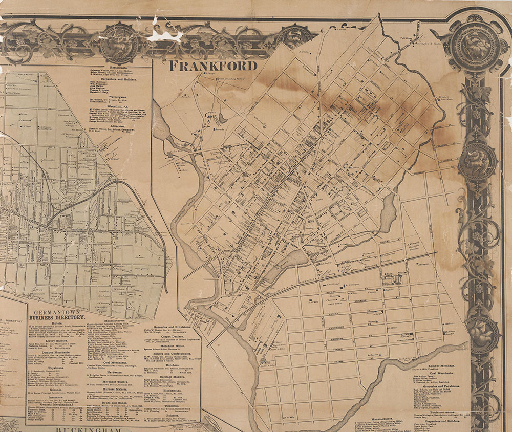 Map of the Vicinity of Philadelphia From Actual Surveys 1861, Plate 3-A: Philadelphia (part)