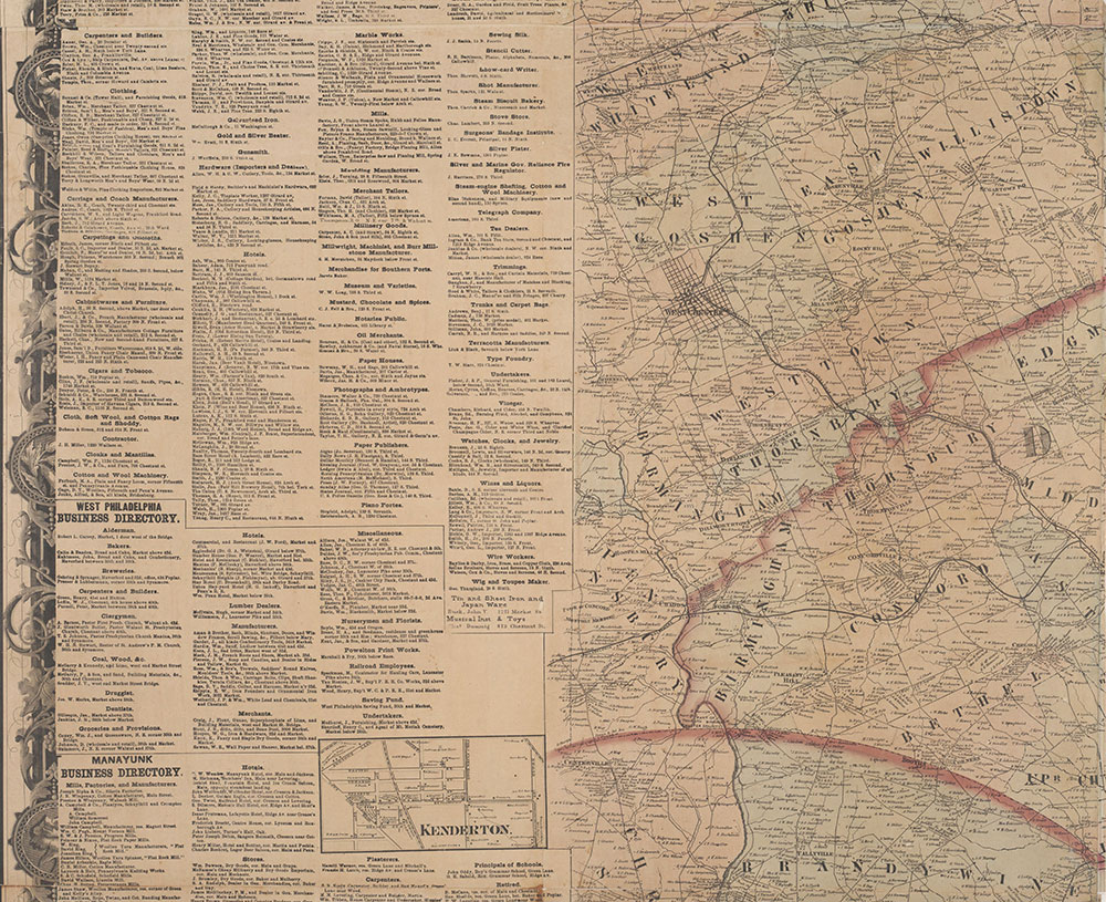 Map of the Vicinity of Philadelphia From Actual Surveys 1861, Plate 4-A: Southeast Suburbs