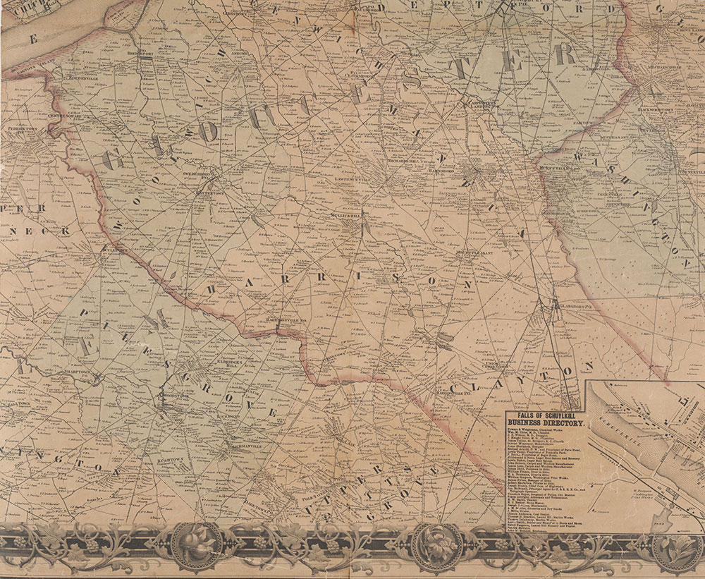 Map of the Vicinity of Philadelphia, From Actual Surveys, 1861, Plate 5-B: South Suburbs