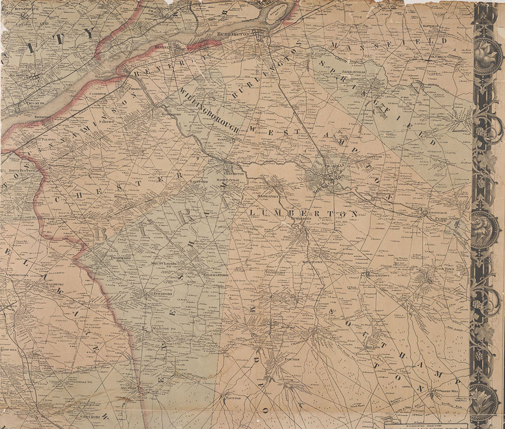 Map of the Vicinity of Philadelphia From Actual Surveys 1861, Plate 6-A: Southeast Suburbs