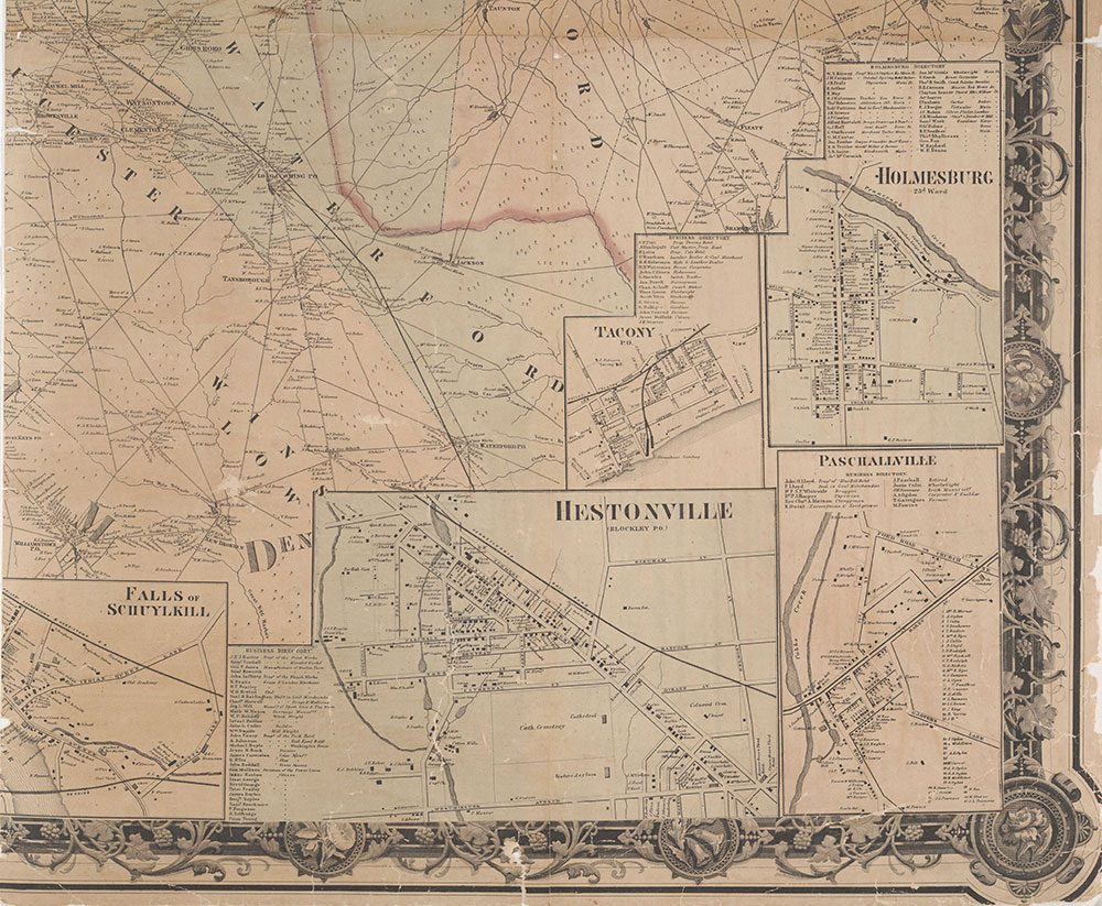 Map of the Vicinity of Philadelphia, From Actual Surveys, 1861, Plate 6-B: Southeast Suburbs