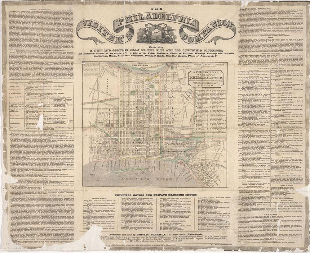 The Philadelphia Visiter's Companion, 1834, Map