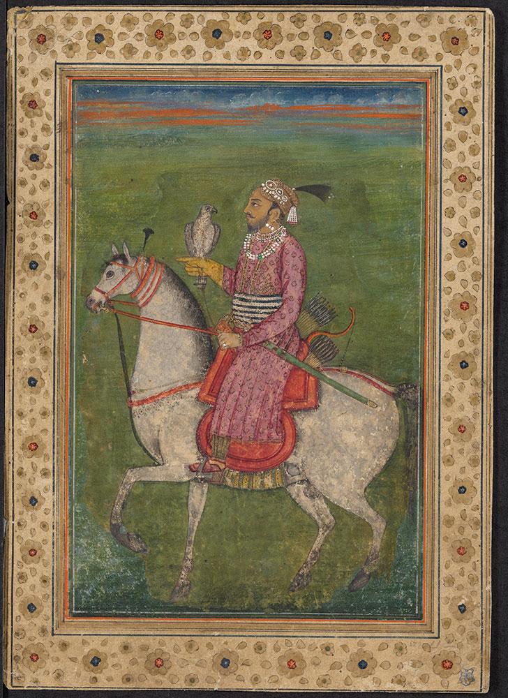 Portrait of Guru Hargobind on Horseback