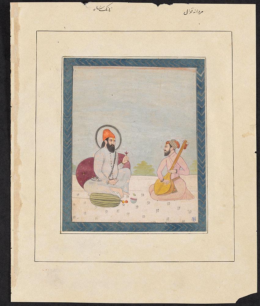 Portrait of Guru Nanak and a Musician