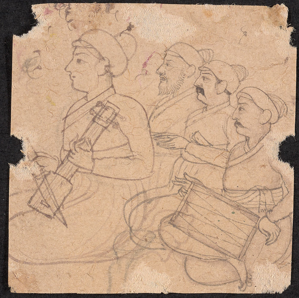 Drawing of Musicians
