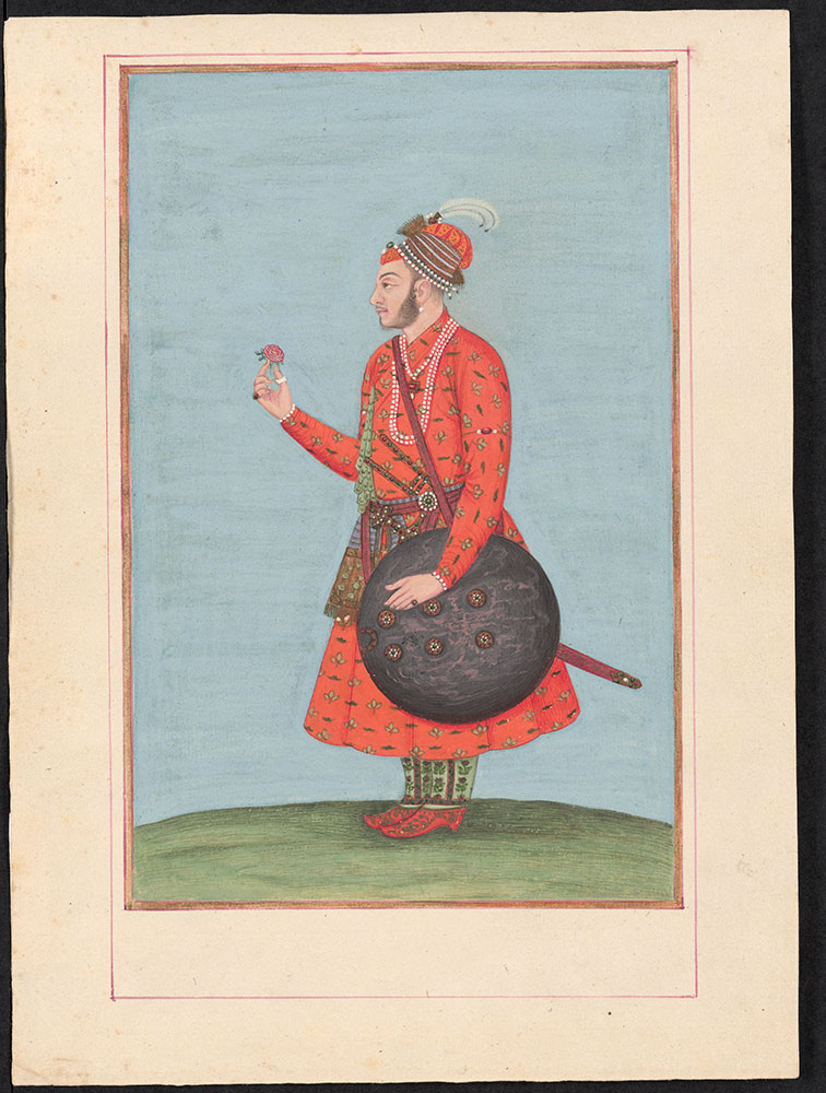 Portrait of an Unidentified Nobleman Wearing Orange and Holding a Flower