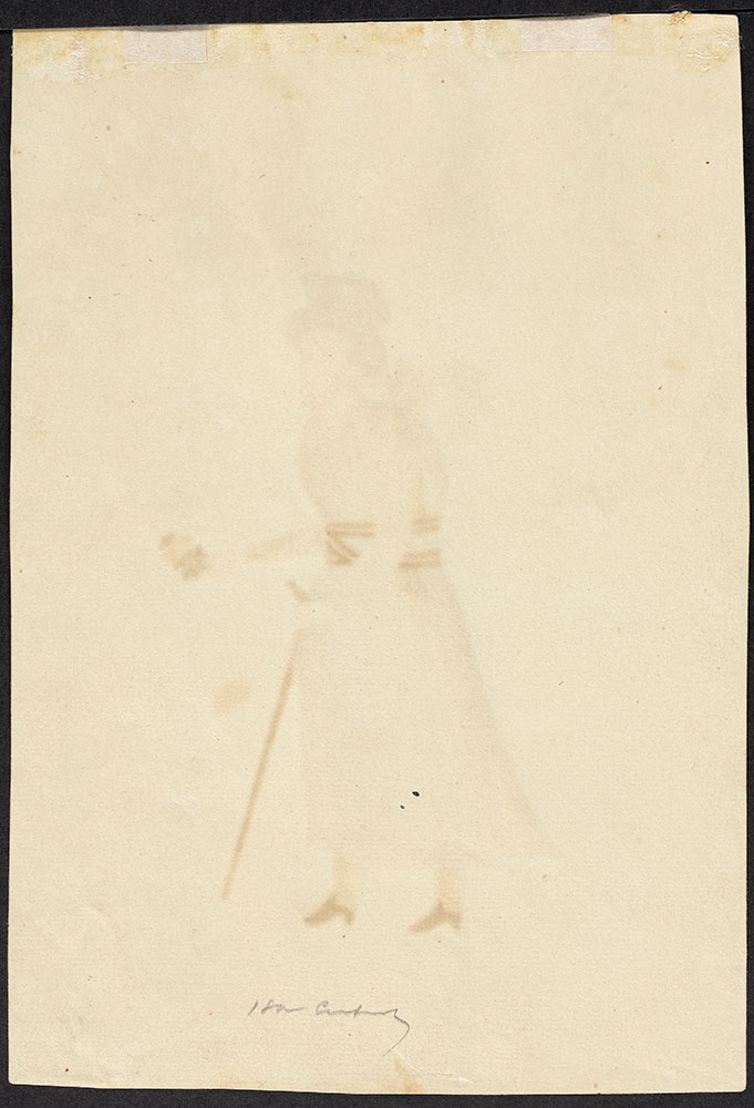 Portrait of a Man Standing with a Cane (Back)
