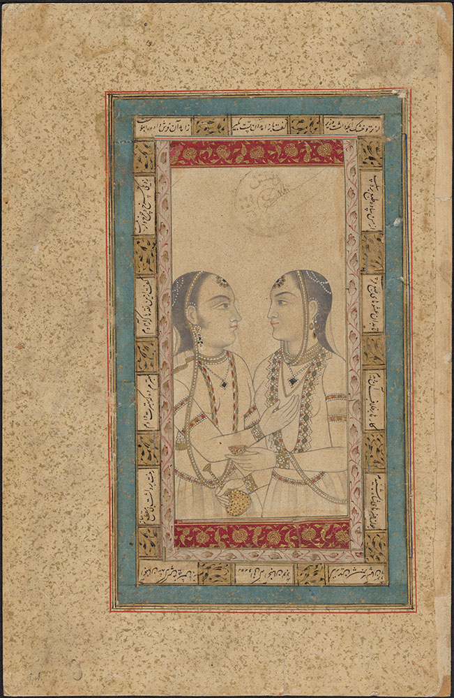 Drawing of Two Women Facing Each Other