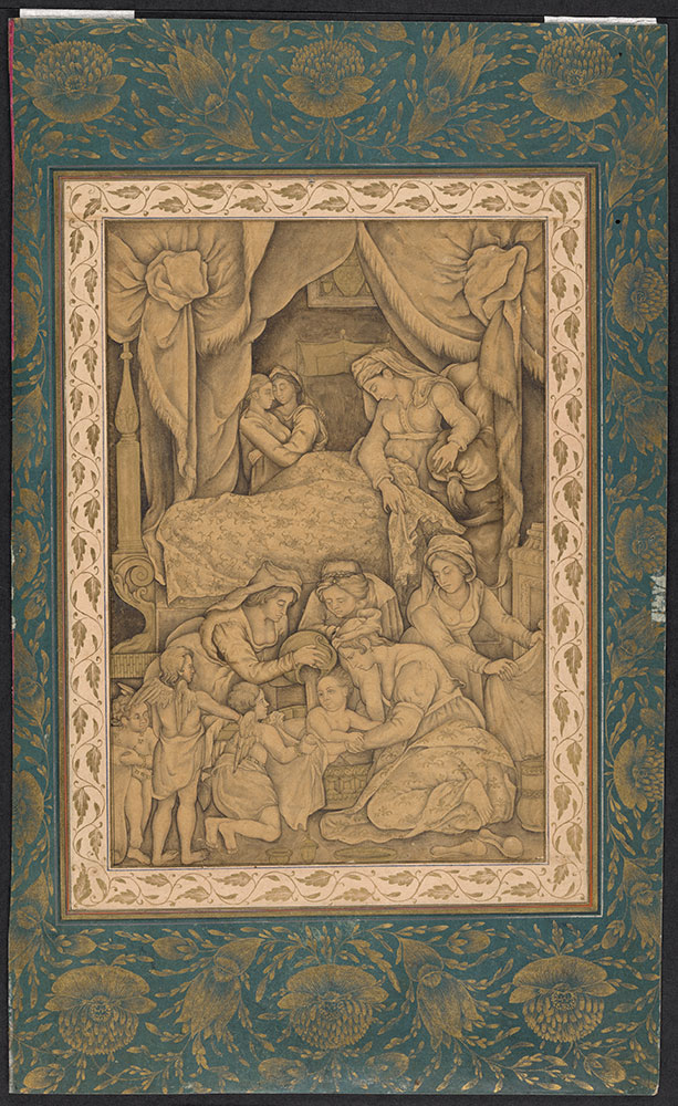 Drawing of the Nativity of Mary