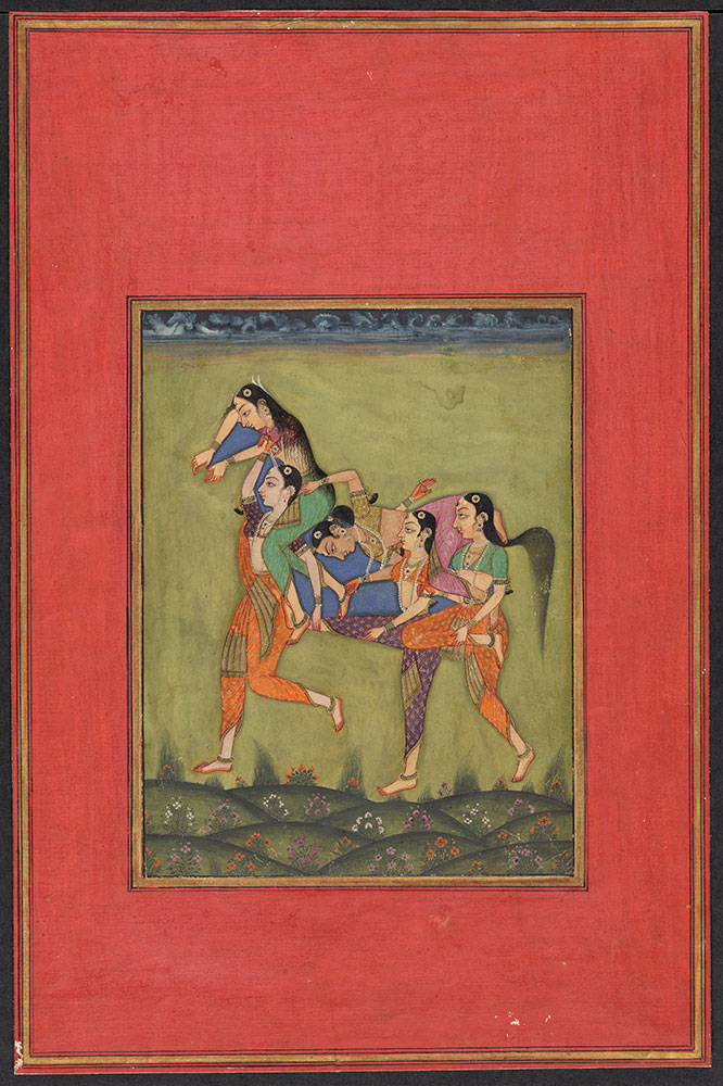 Painting of a Composite Horse Made Out of Five Women