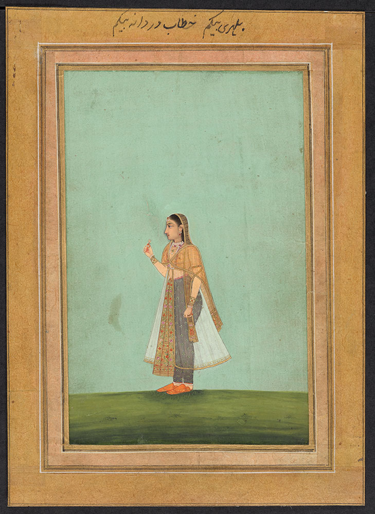 Portrait of an Unidentified Mughal Princess Holding a Flower