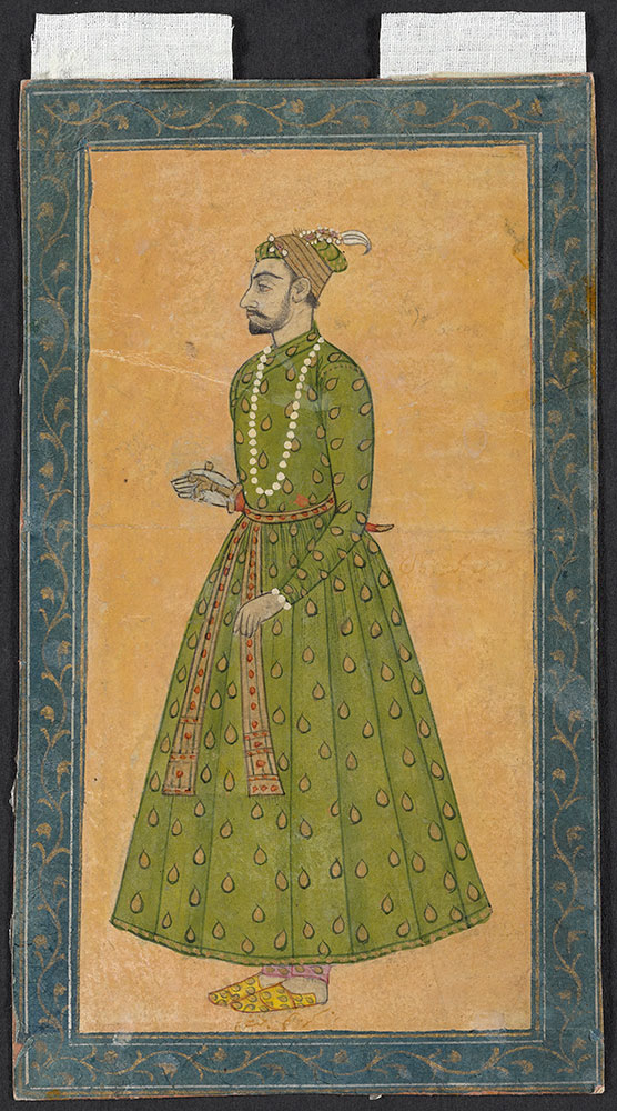 Portrait of Himmat Khan Holding His Dagger