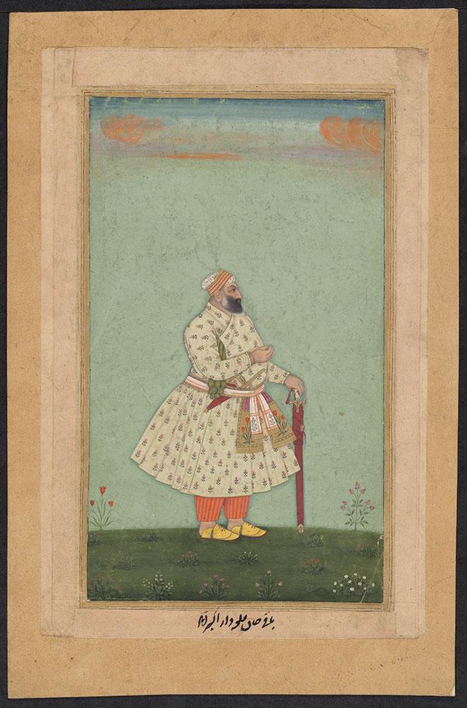 Portrait of Baqi Khan, Commander of Akbarabad