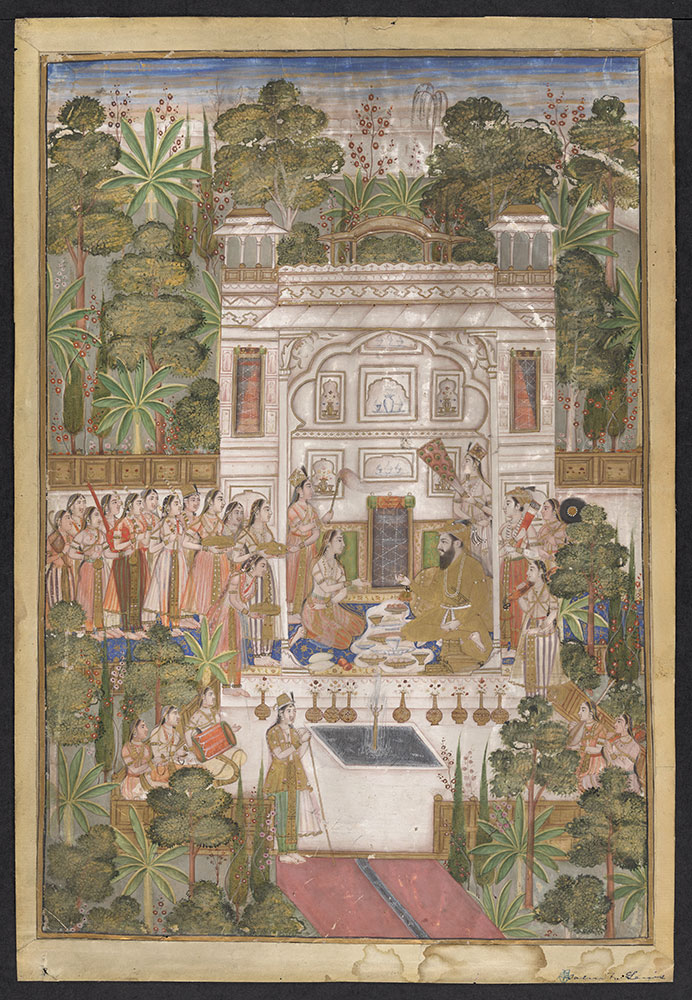 Painting of Shah Jahan with His Court